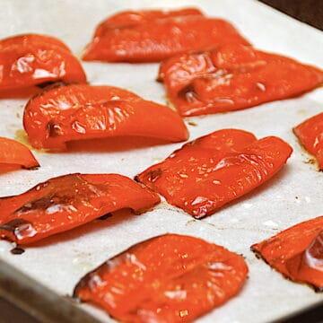 billede med bagte peberfrugter
