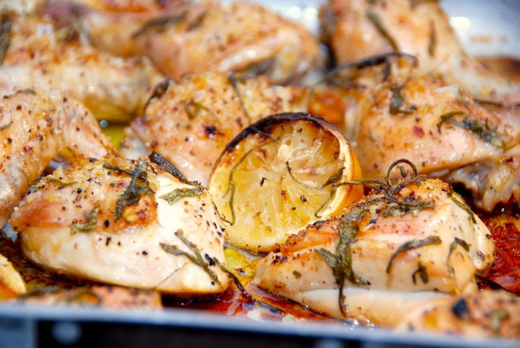 Italiensk kylling med citron og rosmarin i ovn
